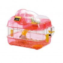 Marukan Hamster House with Electronic Counter in Pink - Medium