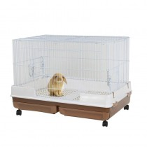 Marukan Easy Clean Wide Rabbit Cage in Brown