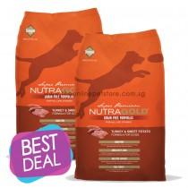 BUY 1 GET 1 FREE: NutraGold Grain Free Turkey & Sweet Potato Dry Dog Food 13.6kg