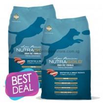 BUY 1 GET 1 FREE: NutraGold Grain Free Whitefish & Sweet Potato Dry Dog Food 13.6kg