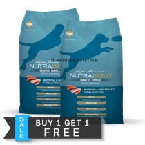 BUY 1 GET 1 FREE: NutraGold Grain Free Whitefish & Sweet Potato Dry Dog Food 13.6kg