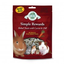 Oxbow Simple Rewards Baked Treats with Carrot and Dill