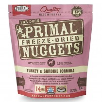 Primal Freeze Dried Turkey & Sardine Nuggets for Dogs