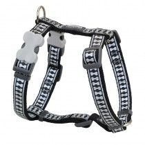 Red Dingo Reflective Black Harness for Dogs