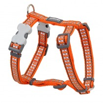 Red Dingo Reflective Orange Harness for Dogs