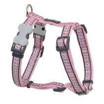 Red Dingo Reflective Pink Harness for Dogs