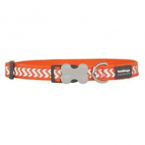 Red Dingo Reflective Ziggy Bucklebone Dog Collar - Small