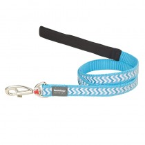 Red Dingo Reflective Ziggy Dog Leash - Small