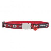 Red Dingo Red Hibiscus Design Quick Release Safety Cat Collar