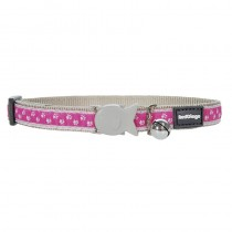 Red Dingo Pink Pussy Prints Design Quick Release Safety Cat Collar