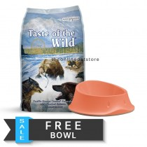 FREE BOWL: Taste Of The Wild Dry Dog Food – 2KG/5lbs