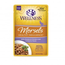 Wellness Healthy Indulgence Morsels Chicken & Chicken Liver (Grain Free) For Cats