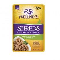 Wellness Healthy Indulgence Shreds Chicken & Turkey (Grain Free) For Cats