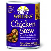 Wellness Homestyle Stew - Grain Free Chicken Stew with Peas & Carrots Canned Dog Food