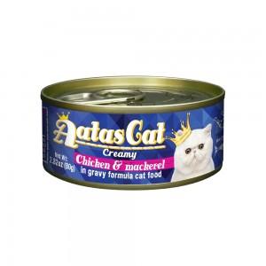 Aatas Cat Creamy Chicken & Mackerel in Gravy Canned Cat Food