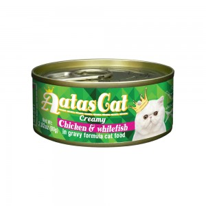 Aatas Cat Creamy Chicken & Whitefish in Gravy Canned Cat Food
