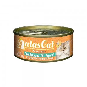 Aatas Cat Savory Salmon & Beef in Gravy Canned Cat Food