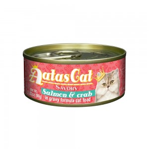 Aatas Cat Savory Salmon & Crab in Gravy Canned Cat Food