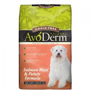 DONATE: AvoDerm Natural Grain Free Salmon & Potato Formula Dry Dog Food 24lbs