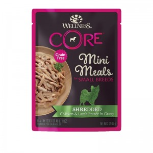 Wellness CORE Small Breed Mini Meals Shredded Chicken & Lamb Entree in Gravy For Dogs