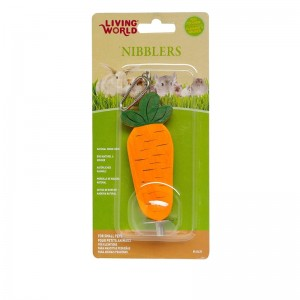 Living World Nibblers Carrot on Sticks Wood Chew