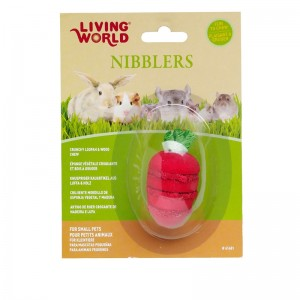 Living World Nibblers Strawberry Wood/Loofah Chew