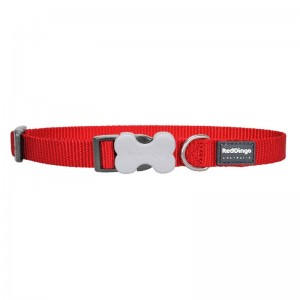 Red Dingo Classic Bucklebone Dog Collar - Medium