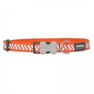 Red Dingo Reflective Ziggy Bucklebone Dog Collar - Small