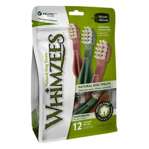 Whimzees Natural Dog Chews Value Bag - Toothbrush